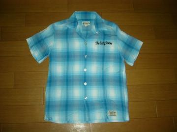 ワコマリア WACKO MARIA チェックシャツ S 水色系 半袖
