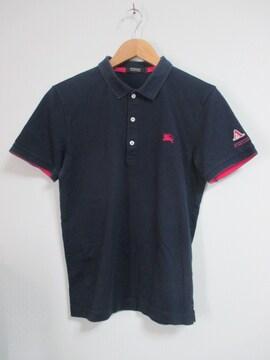 ☆バーバリーブラックレーベル ホース刺繍 ポロシャツ 半袖/メンズ/2