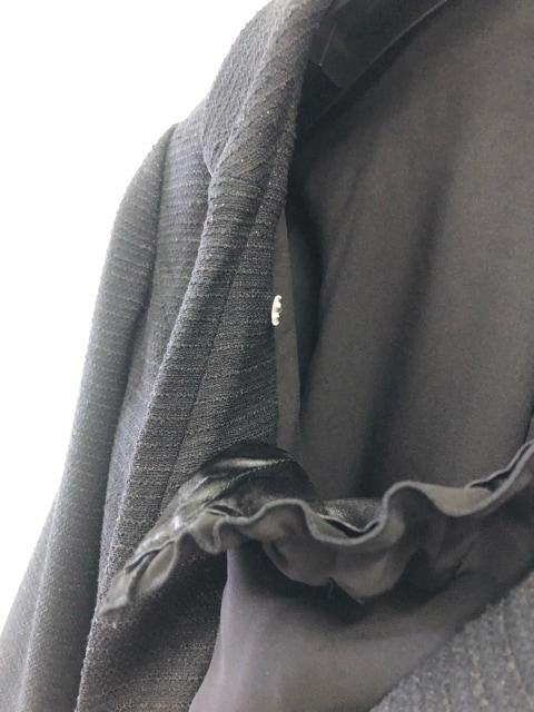 新品☆17号LL暖か裏地セレモニースーツ黒フォーマル入学卒業d127 < 女性ファッションの
