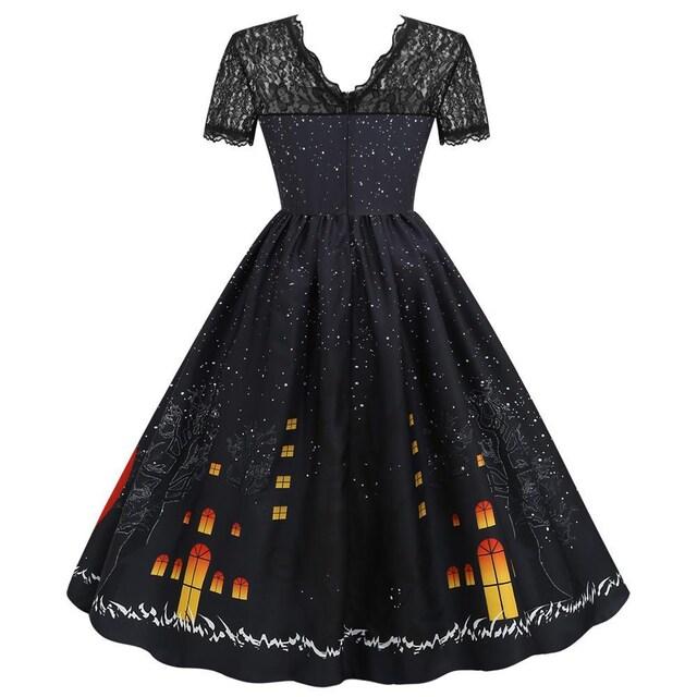 新品大きいサイズ4L ハロウィンパンプキンドレスワンピース < 女性ファッションの