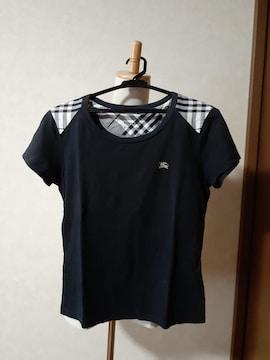 バーバリー・ブルーレーベル Tシャツ 黒