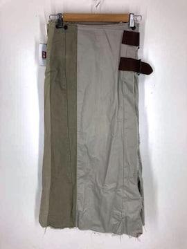 rebuild by needles(リビルドバイニードルズ)chino pant wrap skirt ロン
