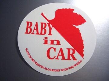 ev_BABY in CARステッカーNERV風エヴァンゲリオン白 赤ちゃん☆
