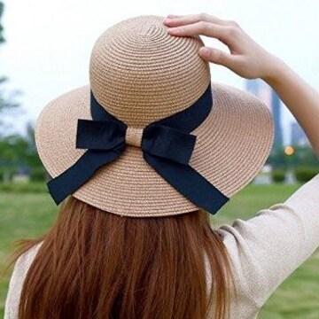 ★送料無料★ 麦わら帽子 折り畳み可能 ブラウン 他カラー有