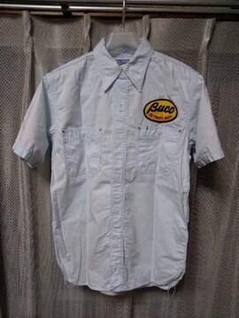BUCO ブコ リアルマッコイズ ワーク 半袖シャツ Sサイズ 14 青 水色 日本製 RRL