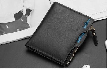 財布 二つ折り財布 お札入れ カード入れ 小銭入れ  ブラック