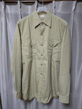 ARROW アロー 古着 vintage ワークシャツ 長袖シャツ カーキ ベージュ USA製 ミリタリー