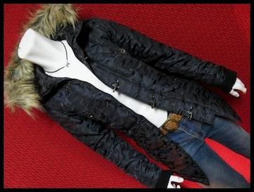 ★in the attic★迷彩カモフラJQファイヤーマンN-3Bコート/BLK/L