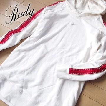 美品 フリーサイズ Rady レディー パーカーワンピース ホワイト