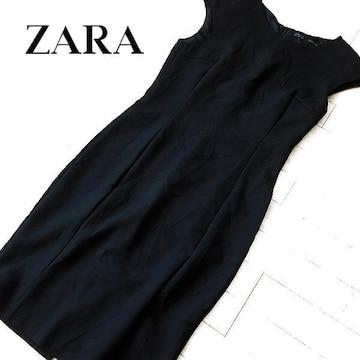 美品 (EUR)M ザラ ZARA Basic ワンピース ブラック