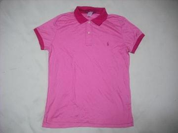 wr374 女 RALPH LAUREN ラルフローレン 半袖ポロシャツ Lサイズ