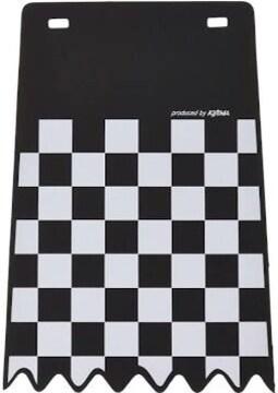 キジマ(Kijima) フェンダーフラップ チェッカー ブラック 200x28