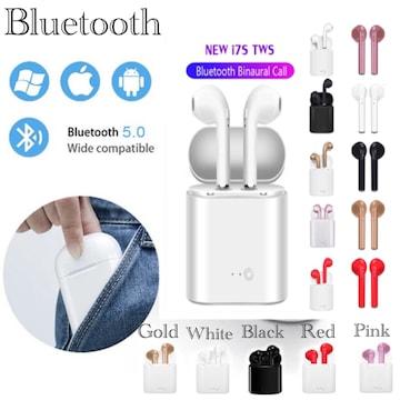 Bluetooth イヤホン 独立型 マイク iPhone Android  両耳 黒