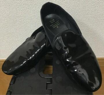 LEATHER UPPER エナメル スリッポン ドレスシューズ