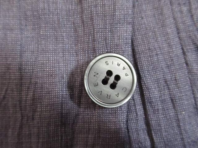 有名ブランド&超美品&国産★CARVEN PARIS★麻混/紺/B6 < 男性ファッションの