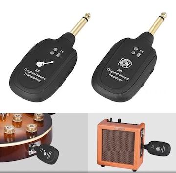 UHF ギターワイヤレスシステムトランスミッタレシーバ内蔵充電式