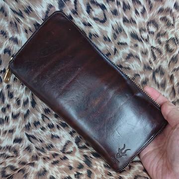 【値下げ不可】AGILITY affa 牛革ラウンドファスナー長財布