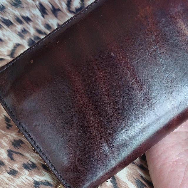 【値下げ不可】AGILITY affa 牛革ラウンドファスナー長財布 < 男性ファッションの
