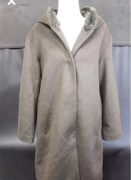 新品☆ COLE HAAN ☆フード付きウールコート☆極暖 Lサイズ