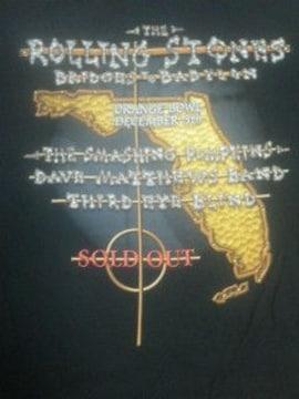 送料無料 ローリングストーンズ バヒロンツアー 当時珍しいご当地Tシャツ 新品