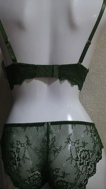 ☆D70ブラ&Mショーツset☆グリーン☆定価2300円☆ < 女性ファッションの