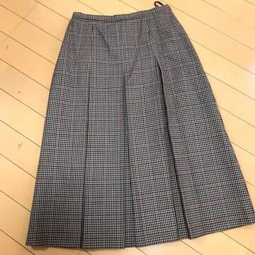 ガンクラブチェック ボックスプリーツスカート W64