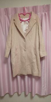 リズリサ シャギーロングコート ピンク