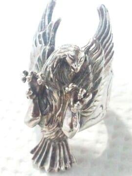 ウルフマン【WOLFMAN B.R.S.】プレイヤーフェザー シルバーリング 鳥 T.Keigo