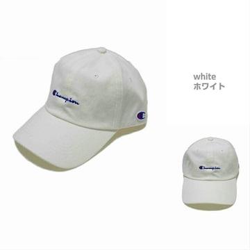 新品チャンピオン 帽子 コットンツイル ベースボールキャップ白