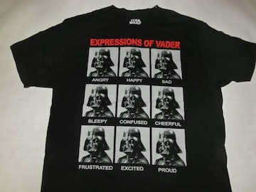 ★USA購入 STARWARS【EXPRESSIONS OF VADER】プリントT US XL 黒