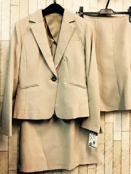 新品☆9号♪ベージュのマーメイド&タイトのスカートスーツ☆j720