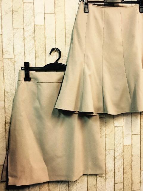 新品☆9号♪ベージュのマーメイド&タイトのスカートスーツ☆j720 < 女性ファッションの