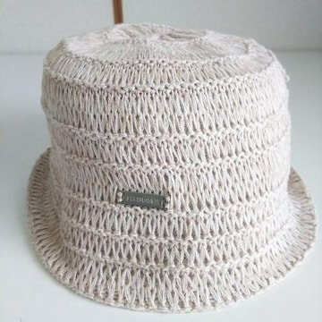 美品 ELLE エル 帽子 ハット ニット