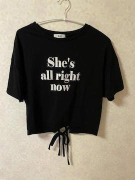 WEGO ウィゴー 後ろリボン Tシャツ ストレッチ ロゴ
