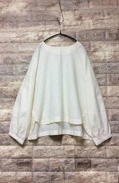 *handomeid*裾デザインリネン100% 新品 Off-White