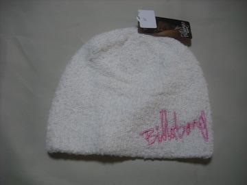 wb60 女 BILLABONG ビラボン ニット帽 パイル地 白