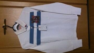 激安83%オフPolo、ラルフローレン、長袖ポロシャツ、ラガーシャツ(新品タグ、白、L)