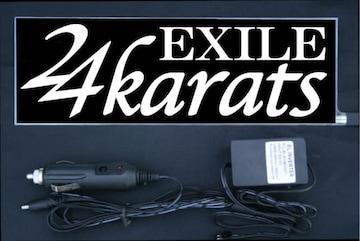 光るプレート『24karats』ver.2 EL発光ブルー EXILE エグザイル