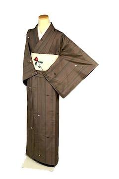 【最高級】新品同様【本場越後伝承紬】手織 紬五彩 小紋 T2215