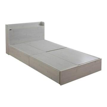 収納付きベッド(収納2分割)ホワイト EMICA100S_WH