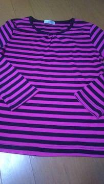 150�p 女の子 長袖 Tシャツ ボーダー