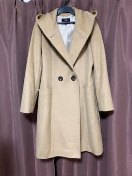 ☆23区定番ウールアンゴラビーバーフーデッドコート☆