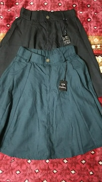 新品 タグ spiral girl スパイラルガール スカート 2点 セット ブラック グリーン