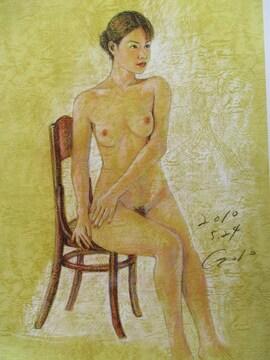 「裸婦162」の限定版画、エディション、直筆サインあり