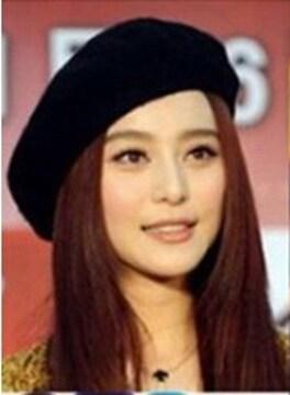 今回のみ390円★大人気★ベレー帽ハットファション帽★黒