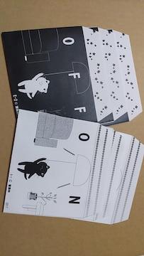 未使用 モノクロ猫封筒6枚セット 洋型