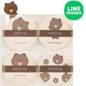 LINEブラウン/MISSHA☆テンションパクトパフ4P
