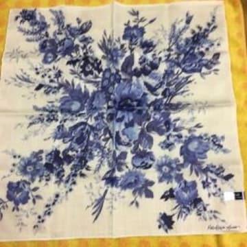 ラルフローレンハンカチネイビー花柄
