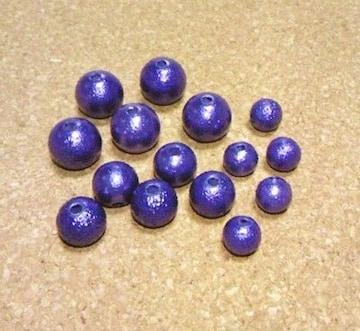 カラー軽量樹脂パール15個ネイビー