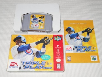 N64★TRIPLE PLAY 2000 海外版(国内本体動作不可) 端子清掃済み